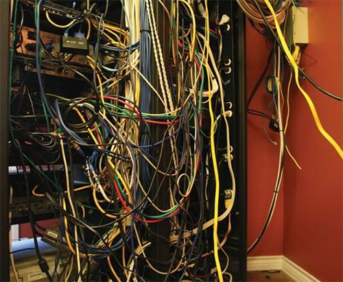 server room cabling hell 15 of the worst server wiring. Black Bedroom Furniture Sets. Home Design Ideas