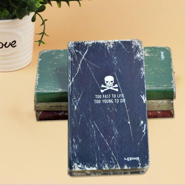 My Fancy Journal Skull Heads Hardcover Sketchbook Retro Blue