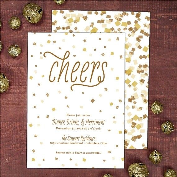 Homemade New Years Eve Printable Cheers Invitation Card for 2015 ...