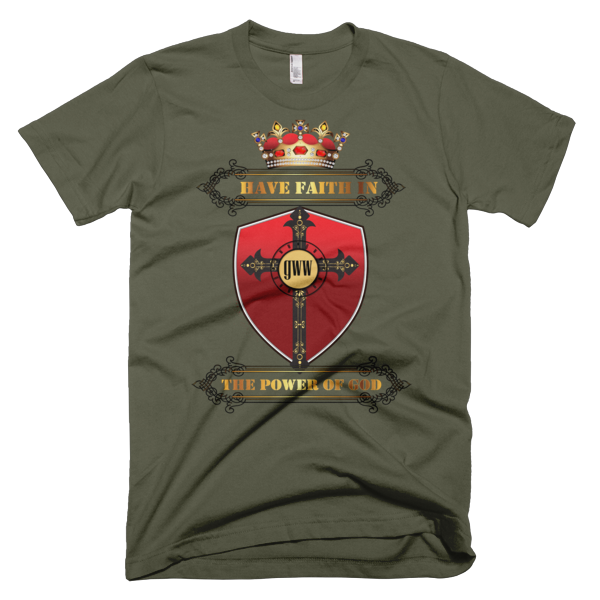 Golden Red Crown with Red Shield and Black Framed Bold Type
