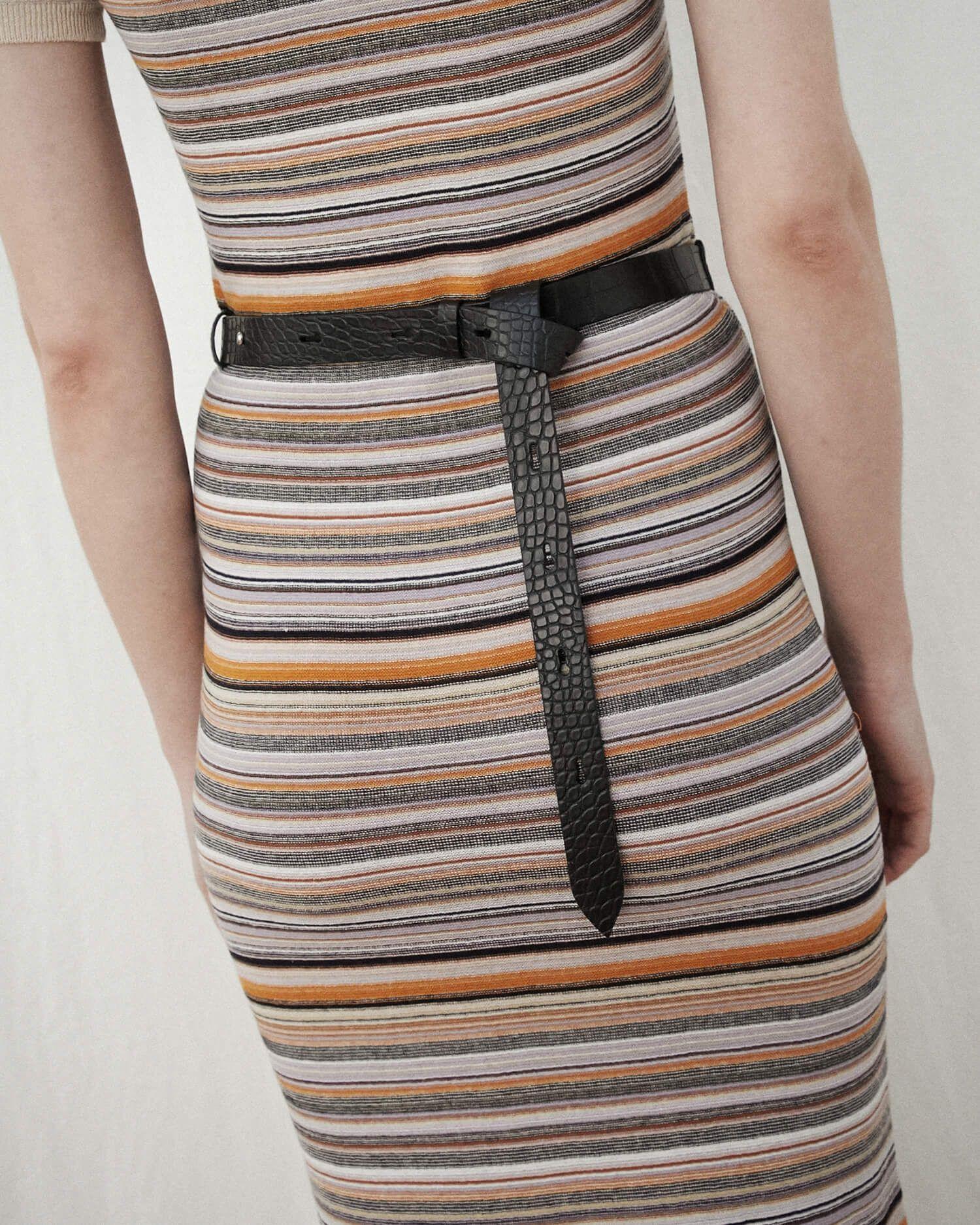 6fd26536859 AUBE - Knit maxi dress with polo neck - Multicolor