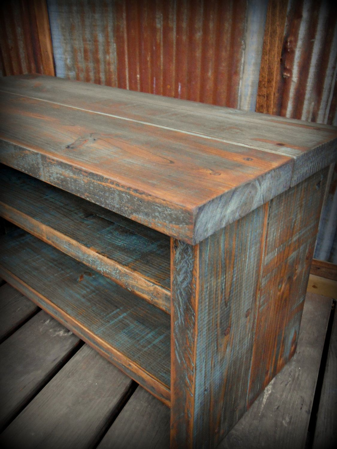 33 Quot Shoe Rack Bench 110 00 Via Etsy Possible To Order Smaller I Think I Could Build That