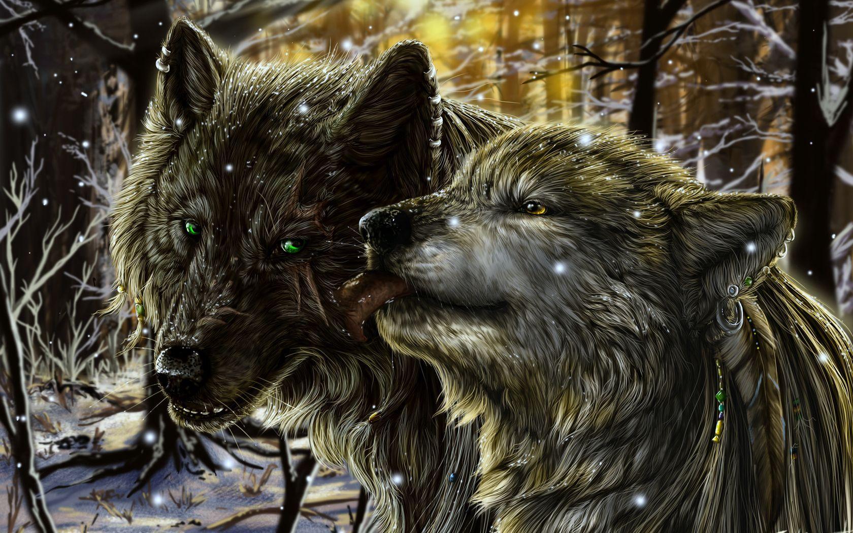 картинки с волками с чем-нибудь только белле исполнилось