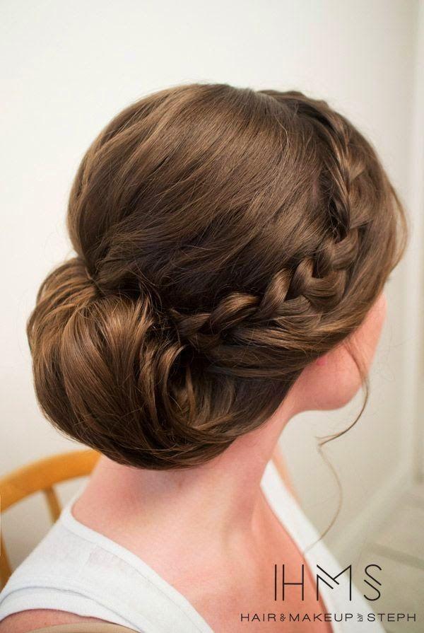 Peinados recogidos con trenzas peinados pinterest for Recogidos de lado de fiesta