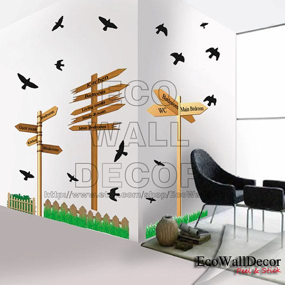 PEEL and STICK Removable Vinyl Wall Sticker Mural by EcoWallDecor, $8.00