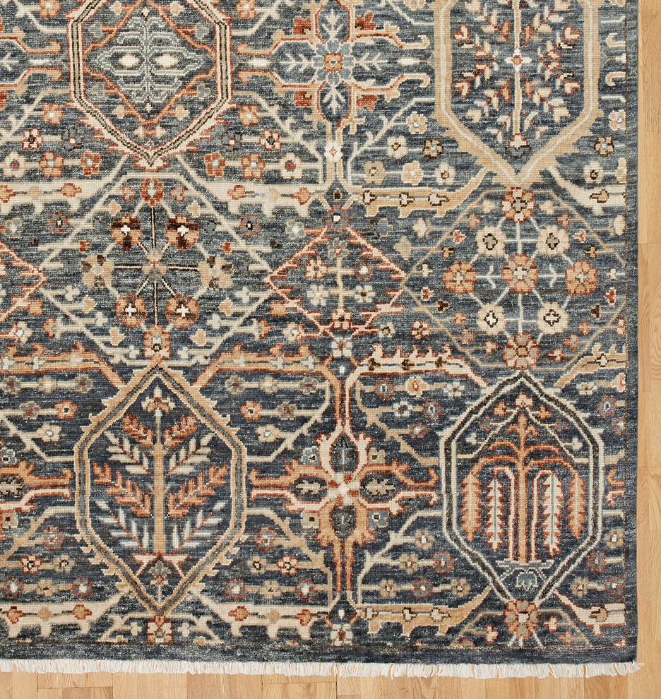 Price Hand-Knotted Rug - Blue (With Images)