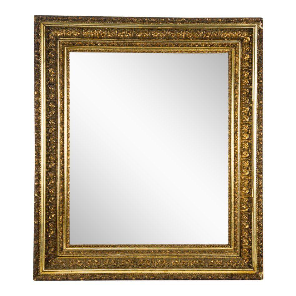 Italian Baroque Giltwood Carved Wall Mirror Italian Baroque