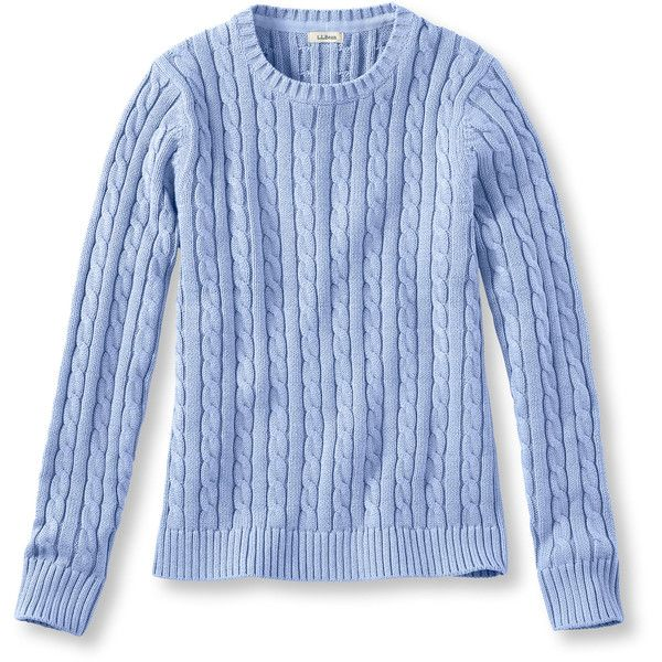 L.L.Bean Women's Double L Cotton Sweater, Cable Crewneck Misses ...