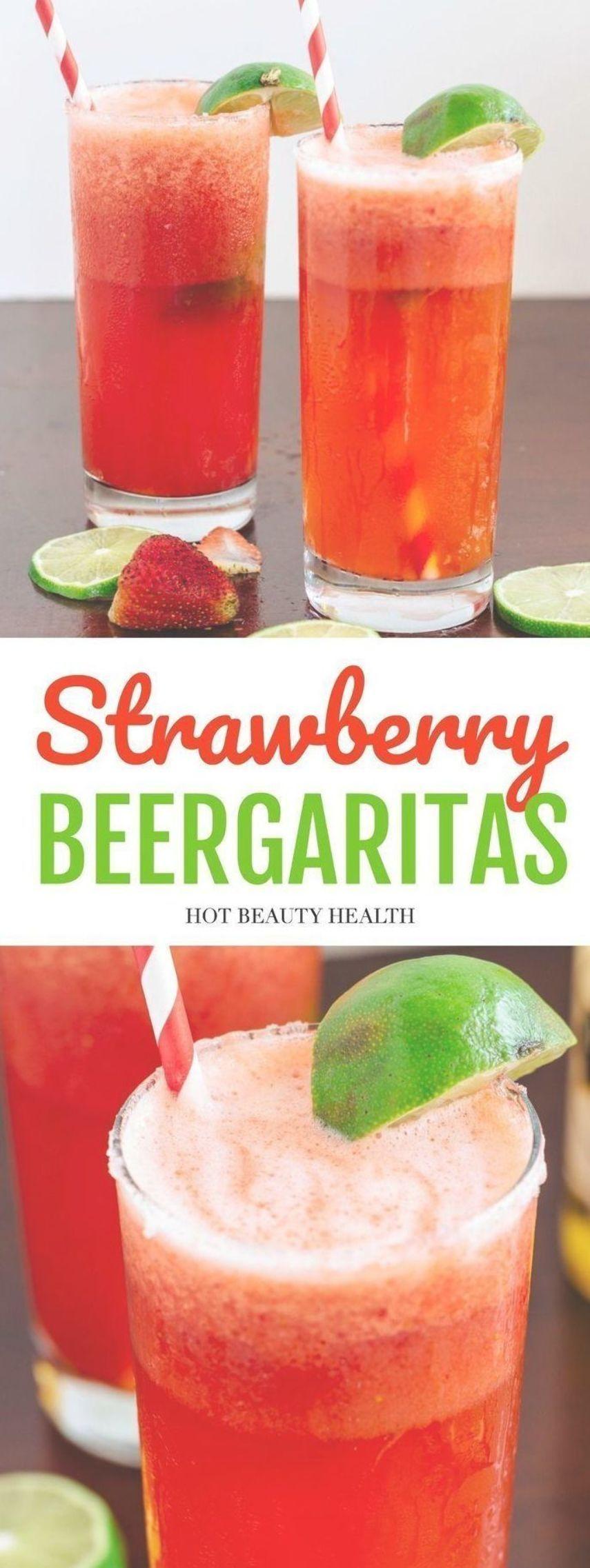 An Easy Strawberry Beer Margarita Recipe Made With Frozen Limeade 7up Estrella Jalisco Beer Strawberry Beer Strawberry Beer Margarita Recipe Beer Margarita