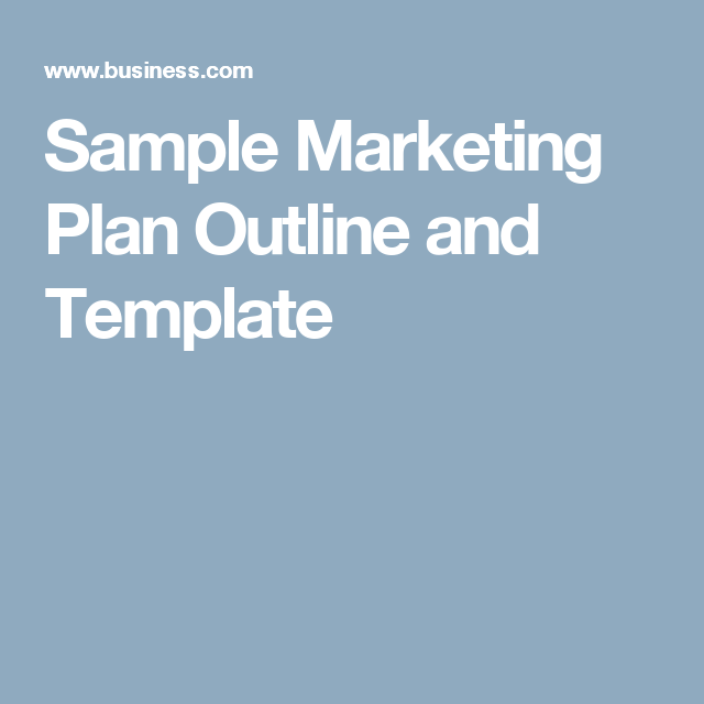 Sample Marketing Plan Outline And Template  Marketing Km