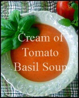21 Rosemary Lane: Cream of Tomato Basil Soup