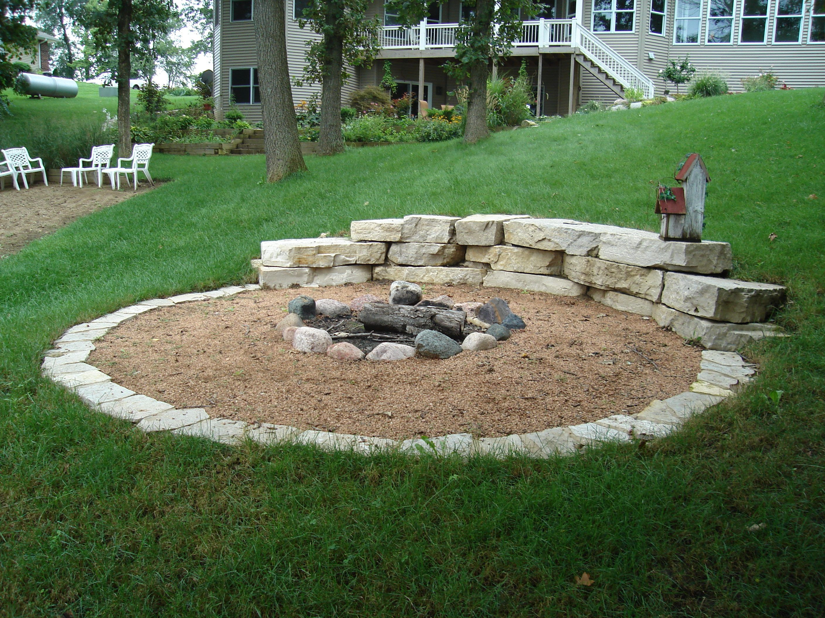 Perfect Hillside fire pit