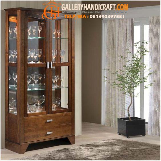 Lemari Hias Jati Minimalis Natural Furniture Kitchen