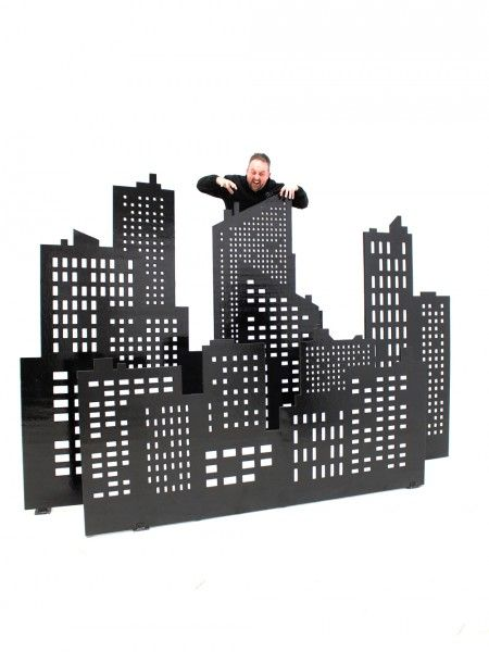 City Skyline Cutouts Set Of 4