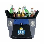 This customizable cooler doubles as a speaker! A must-have for any tailgate!