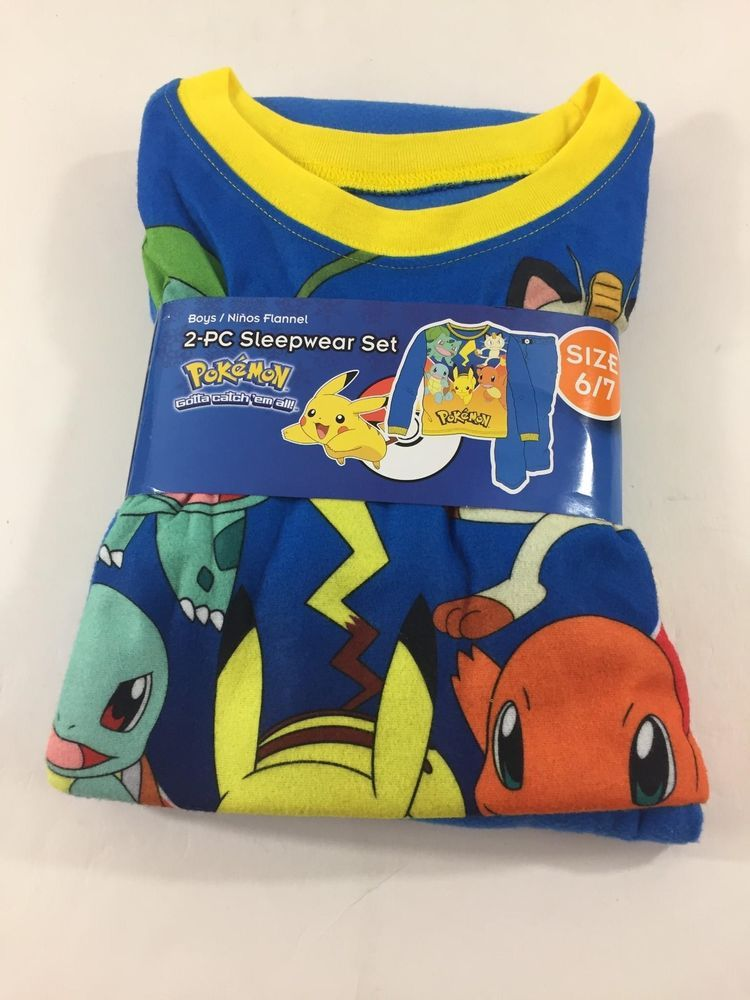 647ec631a4 Pokemon Pajamas Size 6-7 Boys NWT Pikachu Catch Them All 2 Piece  fashion