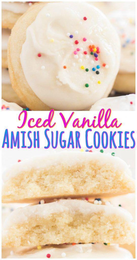 Iced Vanilla Amish Sugar Cookies - The Gold Lining Girl