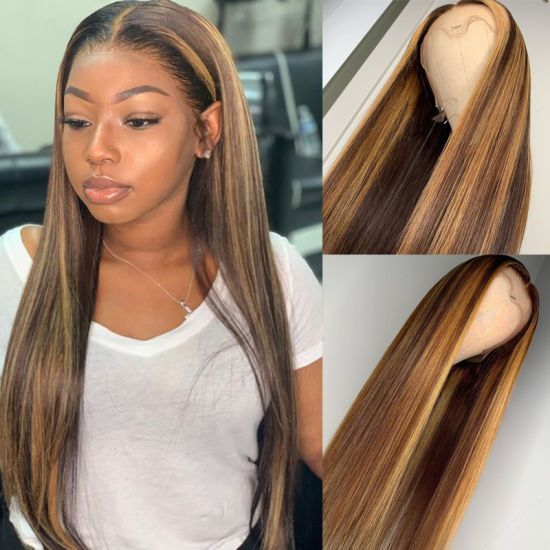 [Hot Item] 13X6 Deep Part Ombre Honey Blonde Human Hair Wigs with Highlights Straight Indian Remy Lace Front Wig for Black Women – Love your Hair…..