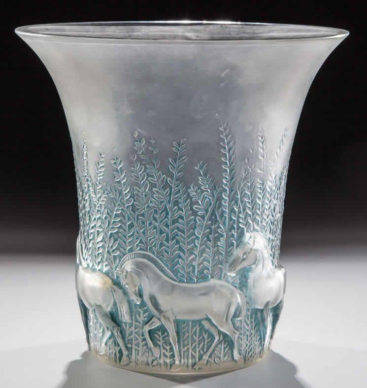 R Lalique Vase Chevaux Antique Glass Pinterest Glass Art And