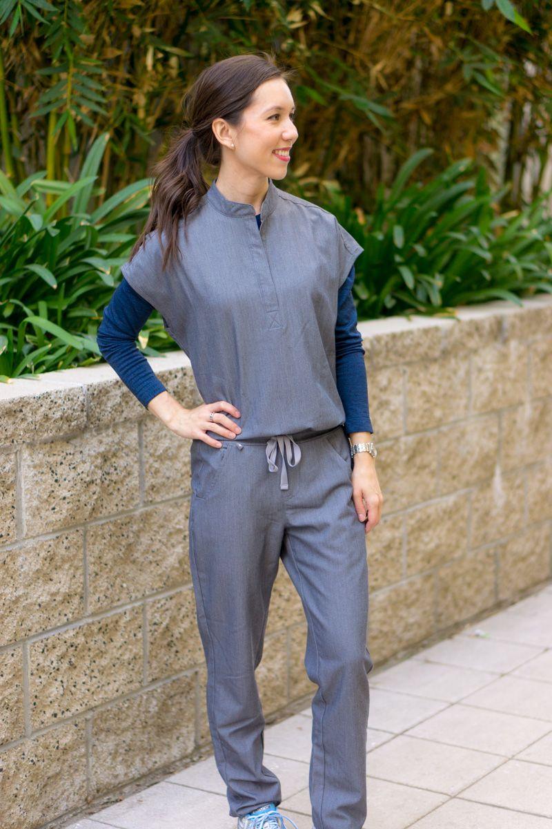6a36c1d61a6 Honest Wear FIGS Scrubs Review | FIGS Cadiz Longsleeve underscrub tee  t-shirt | FIGS