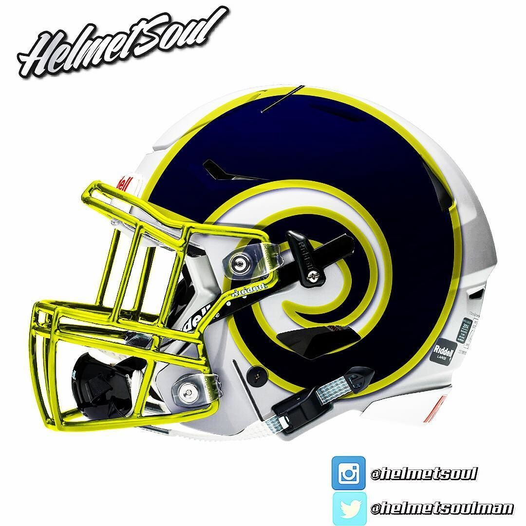 Go Rams Football helmets, New nfl helmets