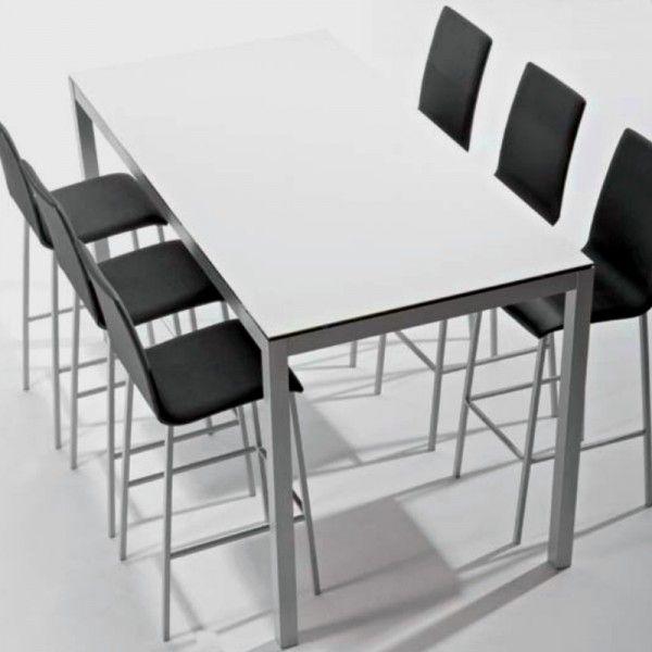 Mesa para cocina manhattan verde brillante con estructura en plata ...