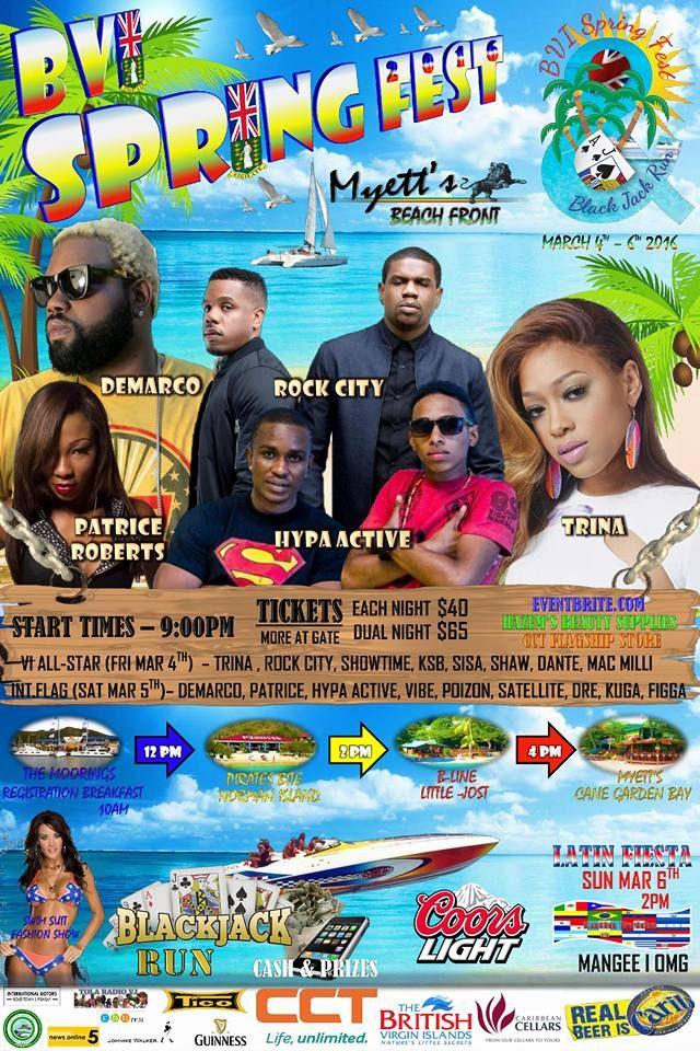 BVI Spring Fest 2016 March 4-6, 2016