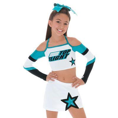 All Star Cheerleading Uniforms Crop Top