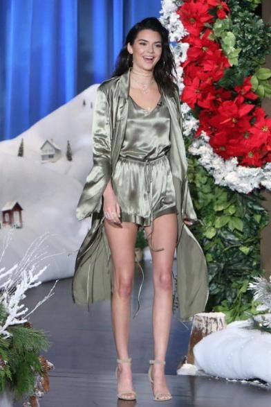 0c23042f688a Kendall Jenner wearing Jacquie Aiche Shaker Diamond Choker and Yeezy Suede  Heel Sandals