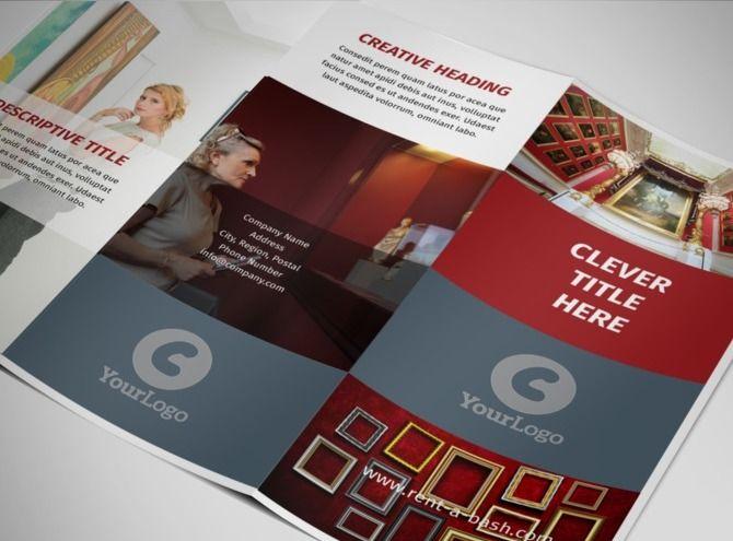 European Art Museum Tri-Fold Brochure Template BCHS Program - tri fold brochure
