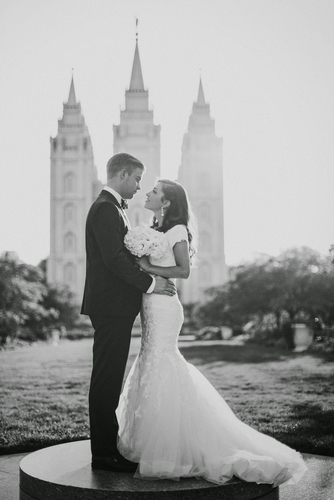 LDS Temple Wedding Couple Photography