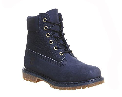 Timberland 6in Premium, Damen Stiefel , Blau Navy Nubuck