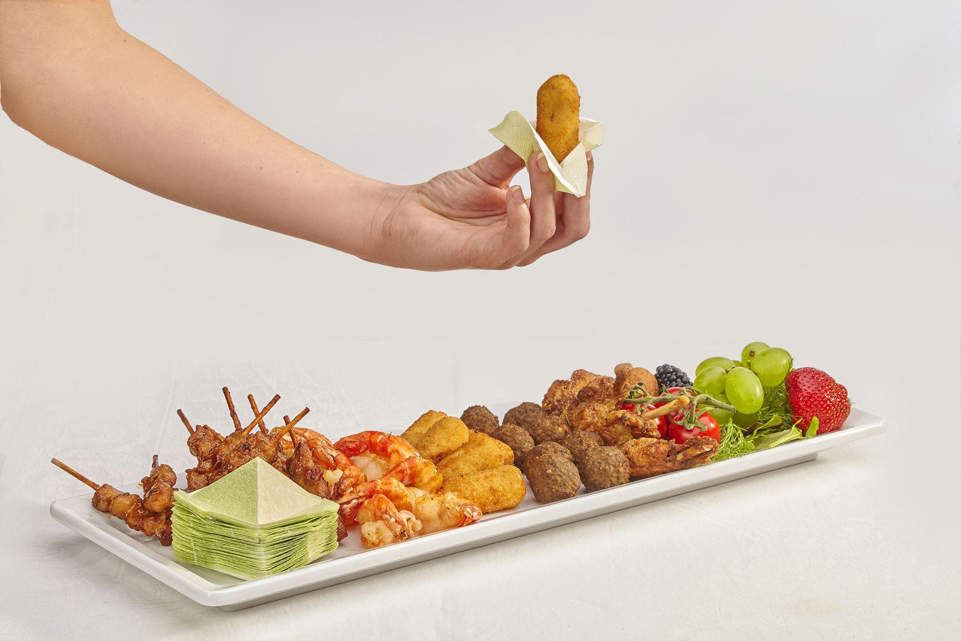 Pak gemakkelijk en zonder vette vingers iedere snack met Grippy's 3D Servetten
