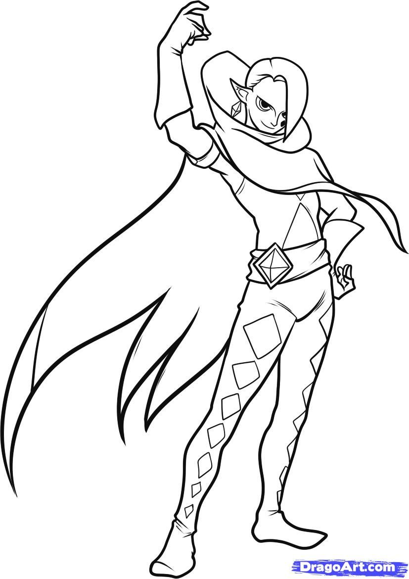 Image result for legend of zelda ghirahim coloring pages  Dessin