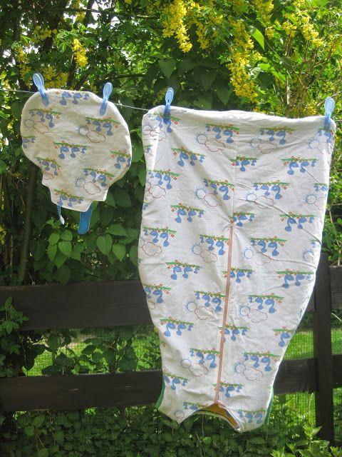 Schlafsäcke aus Bettwäsche / Sleeping bags made from bed linen ...