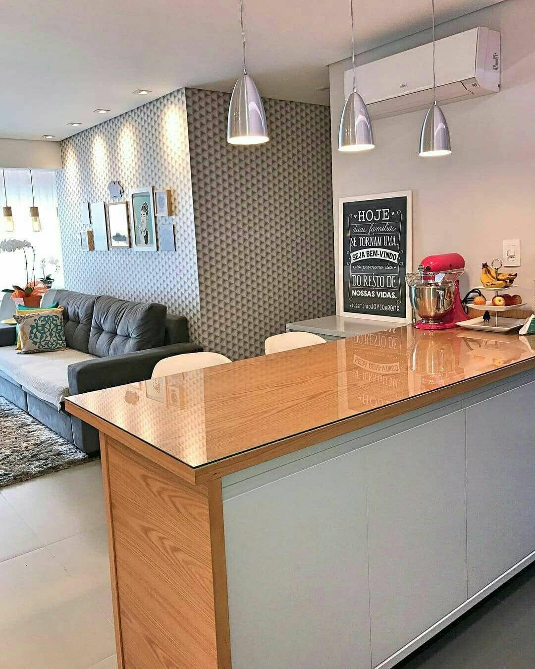 Bom Dia Que Tal Esse Ambiente Lindo O Balc O De Madeira Com  ~ Bancada Divisoria Sala Cozinha