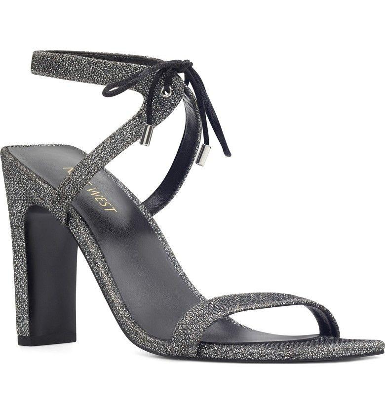 Nine West Longitano Squared Toe Sandal (Women | Ankle strap