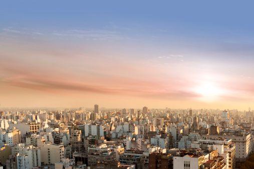 Veduta aerea di Buenos Aires, Argentina Dal Palacio Barolo
