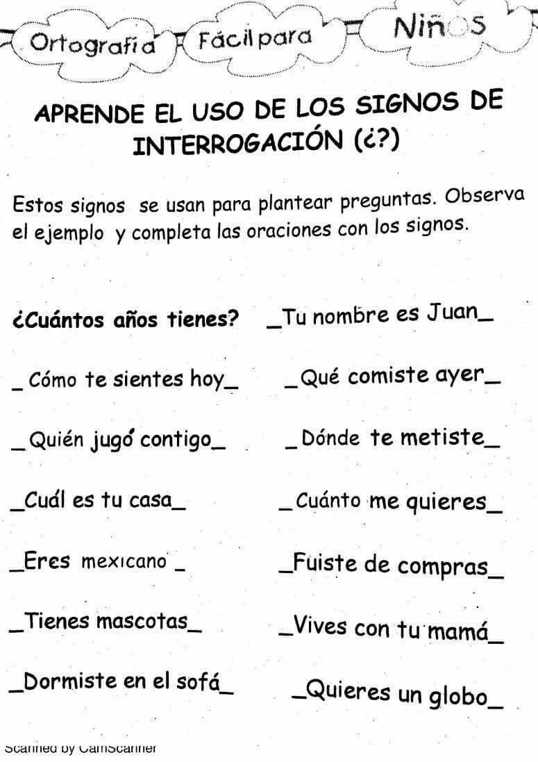 Signos De Interrogacion Signo De Interrogacion Lectura De Comprension Primeros Grados