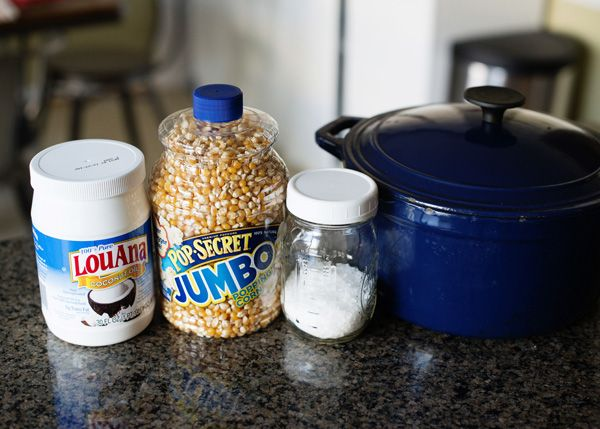 Perfect Dutch Oven Popcorn. This one is sweet and salty but could make it whatever flavor you have a craving for.