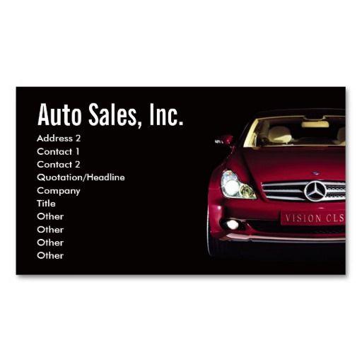 Car Sales Business Cards Zazzle Com Free Business Card Templates Cars For Sale Business Card Template