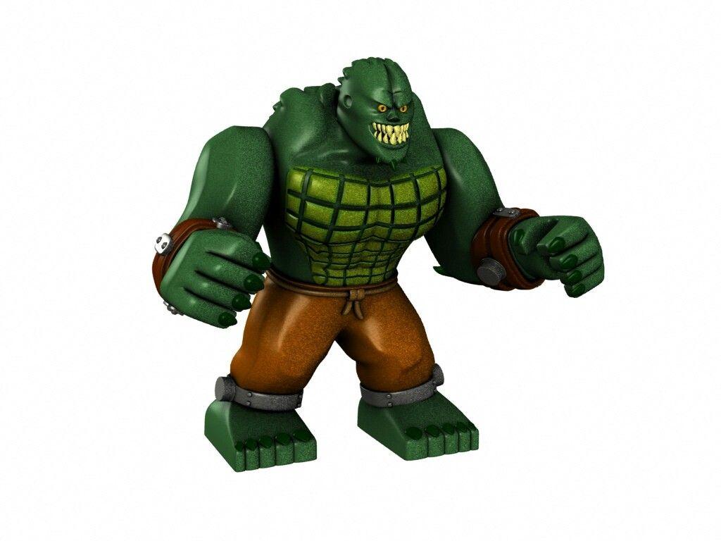 Lego Killer Croc big fig | Lego DC Minifigs | Lego dc ...