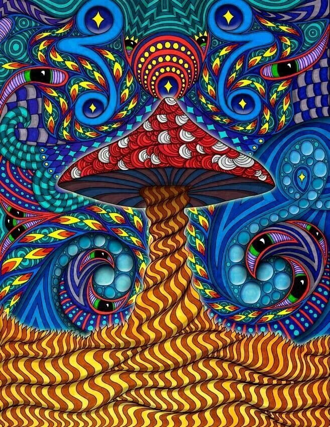 Днем рождения, картинки психоделические грибы