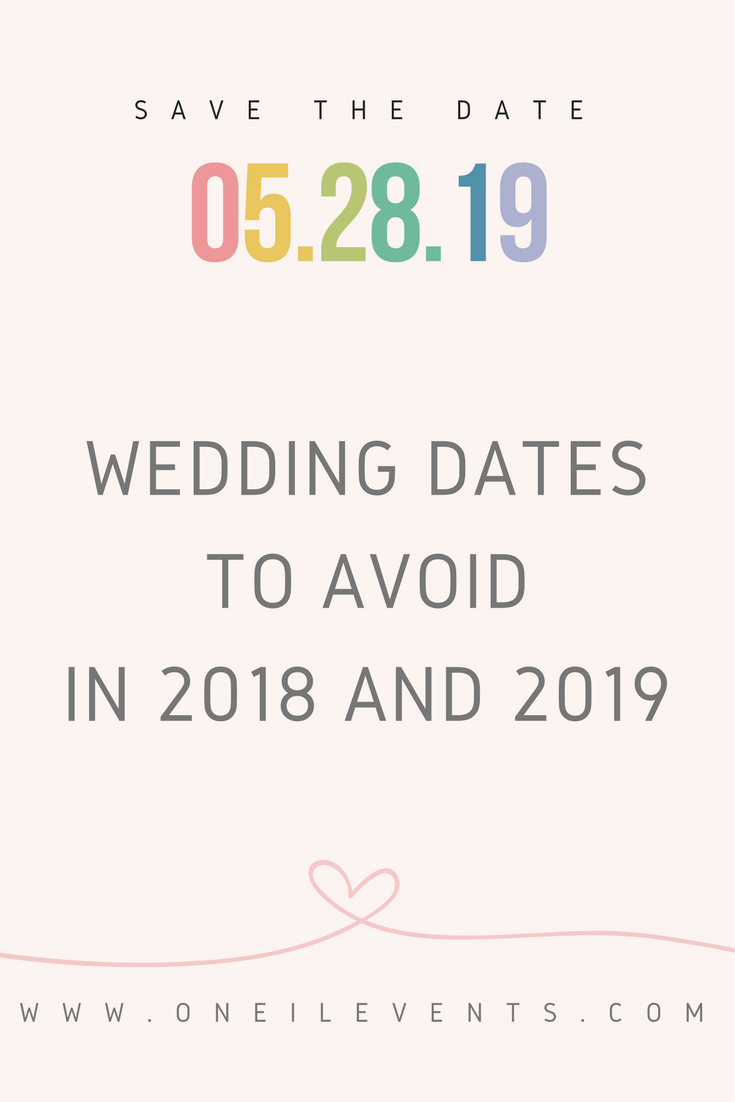 How To Start Planning A Wedding Dates Avoid In 2018 And