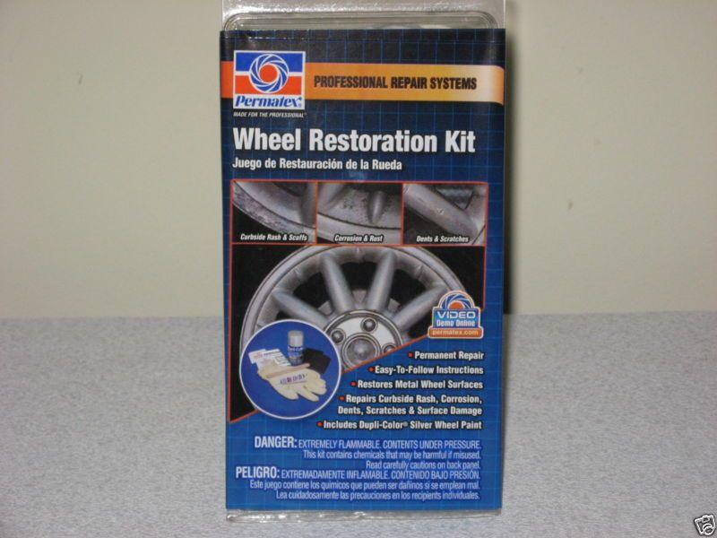 Permatex metal wheel restoration kit repair curb rash