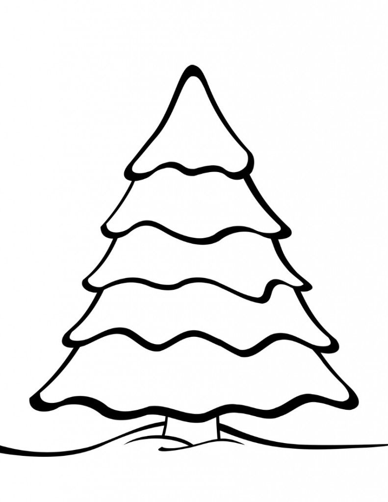 Kids coloring pages christmas trees printable - Free Printable Christmas Tree Templates