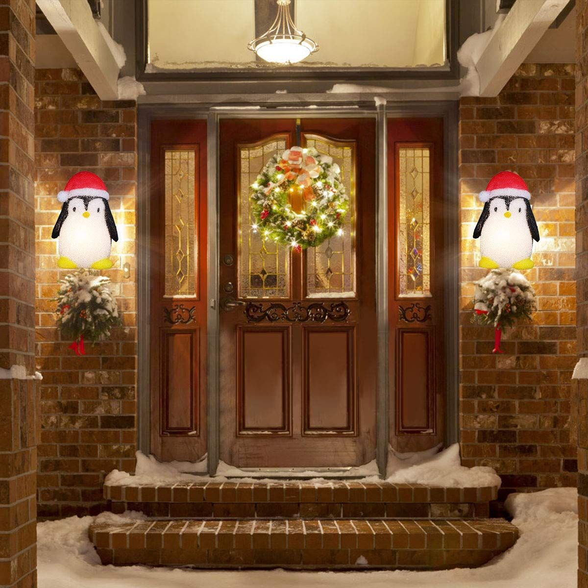Maoyue 2 Pack Christmas Porch Light Covers Holiday Porch Light Covers Continue To The Product At The Image In 2020 Porch Light Covers Christmas Porch Porch Lighting