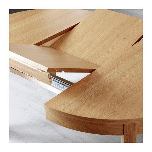 Bjursta Extendable Table Oak Veneer 115 166 Cm In 2020 Round Extendable Dining Table Expandable Dining Table Extendable Dining Table