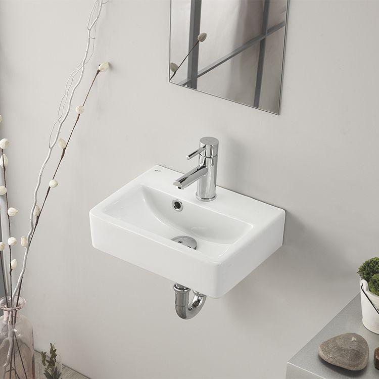Modern Ceramic Rectangular Vessel Bathroom Sink With Overflow Square Bathroom Sink Sink Bathroom Sink