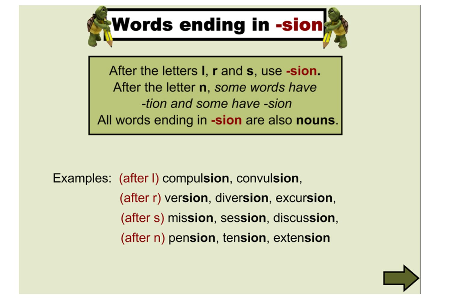 Worksheets Words Ending In Tion Worksheet a great lesson for studying the spelling of words ending in tion cian